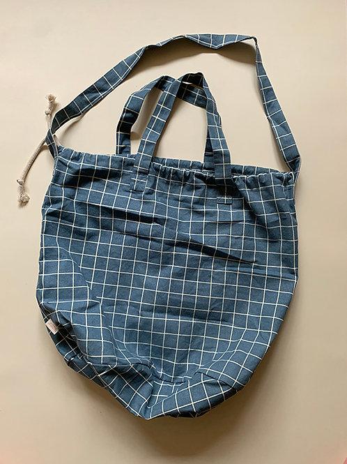 Haps Nordic Shopping Bag, Ocean Check