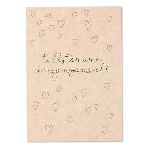 ava&yves Karton-Postkarte mit Goldeffekten – Tollste Mama
