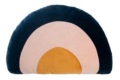 Nobodinoz Rainbow Velvet Cushion - night blue
