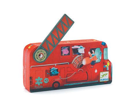 Djeco Puzzle Die Feuerwehr 16 Teile