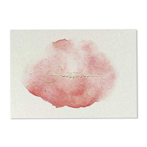 ava&yves Karton-Postkarte Aquarell mit Goldeffekten � Gutschein