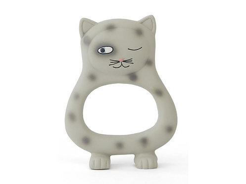 OyOy Beissring Benny Cat 13 x 9.5 cm Katze, Grau