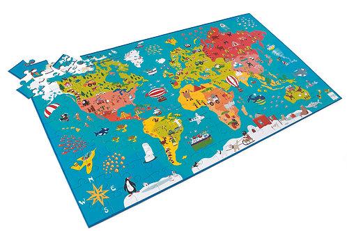 Scratch Puzzle XXL Weltkarte 150 Teile