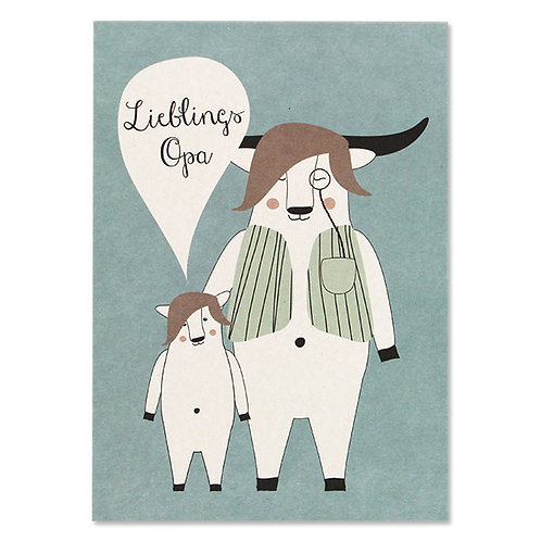 "ava&yves Karton-Postkarte Lieblingsopa ""Yak"""
