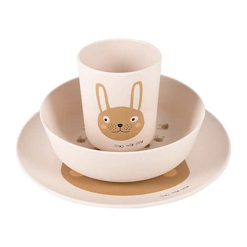 OyOy Geschirr-Set Rabbit Rosa, 3-teilig
