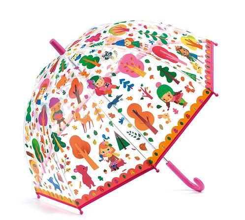 Djeco Regenschirm Wald 70 x 68 cm