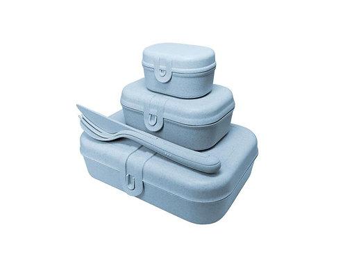 Koziol Lunchbox Pascal Ready Organic 4-teilig, Blau
