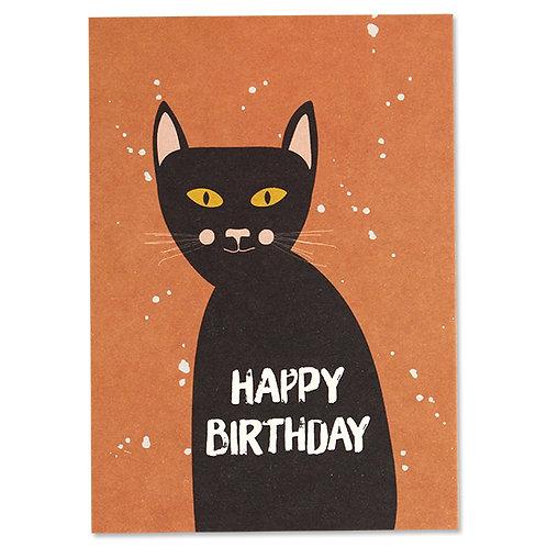 ava&yves Karton-Postkarte Katze – Happy Birthday