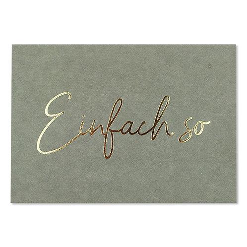 ava&yves Karton-Postkarte salbeigrün mit Goldeffekten – Einfach So