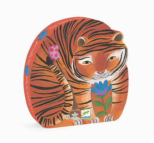 Djeco Puzzle Spaziergang mit Tiger 24 Teile