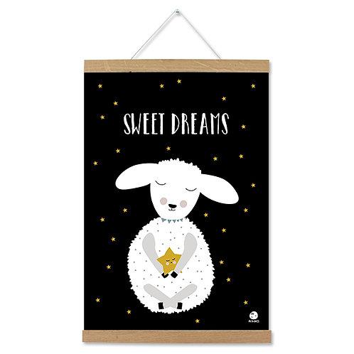 "ava&yves Poster Lamm ""Sweet Dreams"", A3"