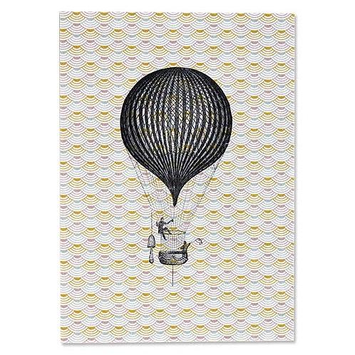 ava&yves Karton-Postkarte Ballon