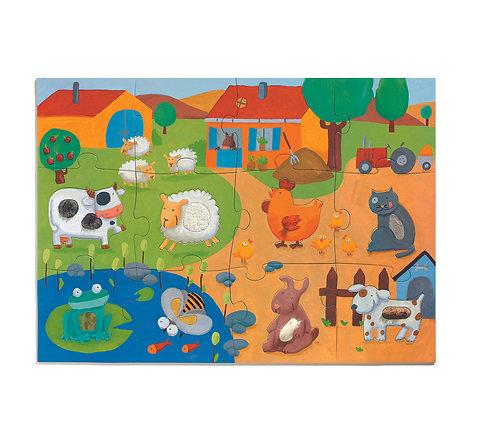Djeco Puzzle Tactilo Ferme 20 Teile