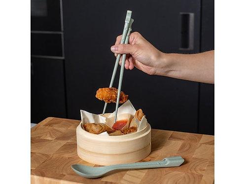 Koziol Besteck-Set Dynasty Organic Chopstick, Grau
