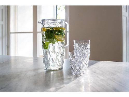 Koziol Wasserkrug CRYSTAL 1.6 l 5er Set, Transparent