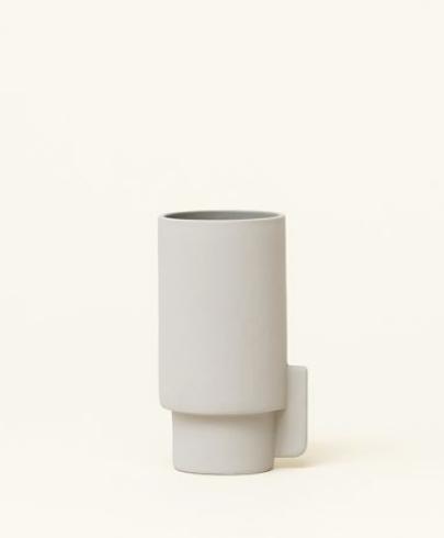 Form & Refine Alcoa Vase, Small, grey