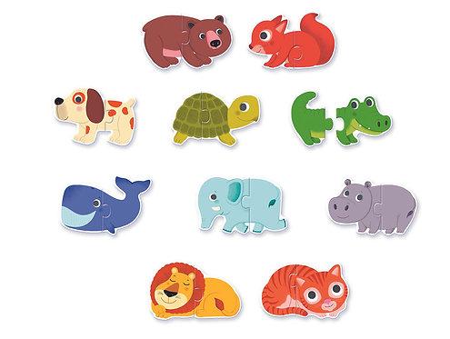 Djeco Puzzle Duo Tiere