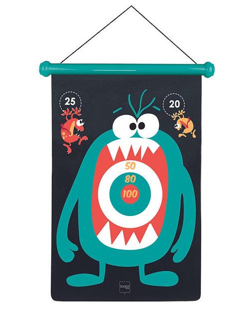 Scratch Dartspiel Monster gross