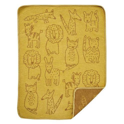 Einzigwert Klippan Blanket Buddies yellow 70x90 cm