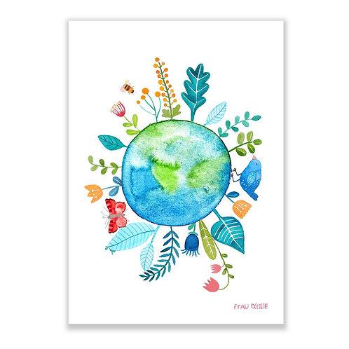 Frau Ottilie Print *grüner Planet*