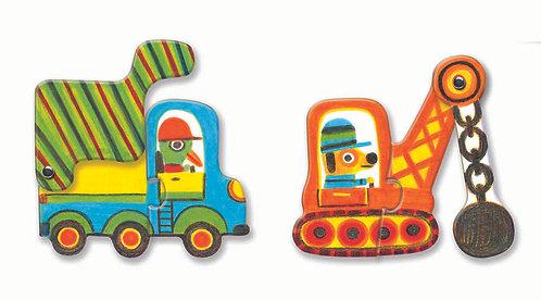 Djeco Puzzle Duo Fahrzeuge