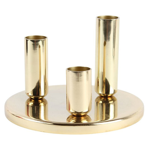 Klevering Chandelier round brass