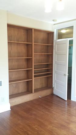 Bedroom 1 Bookshelves