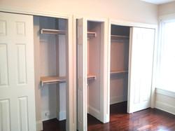 Bedroom 1 Closets