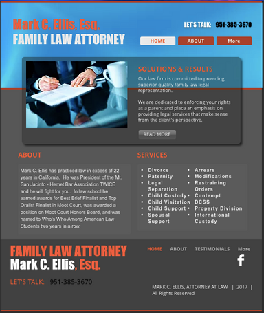 Attorney website i designed ellis law so