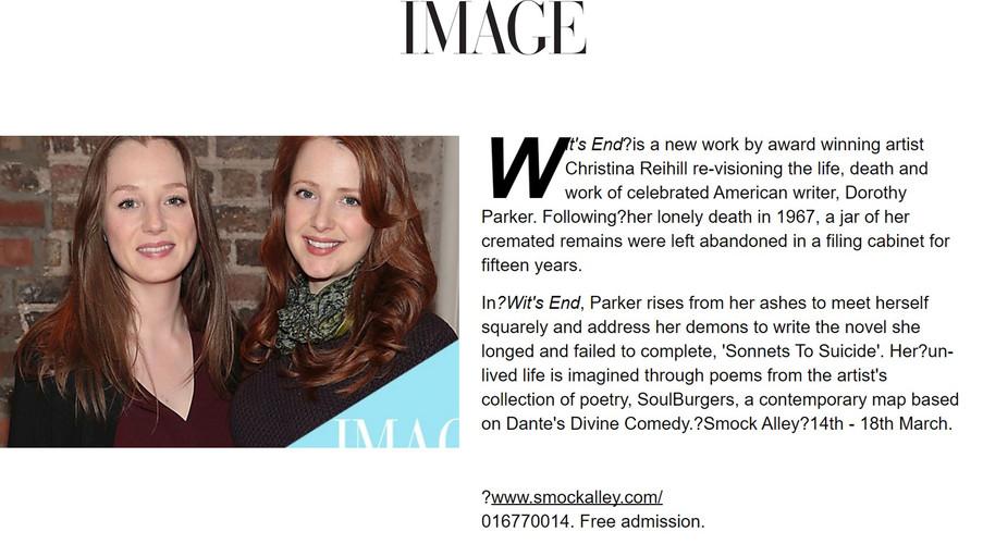 Image Magazine, Niamh O'Donoghue, Wit's