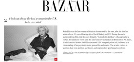 Harpers Bazaar, Glad I Did It, November