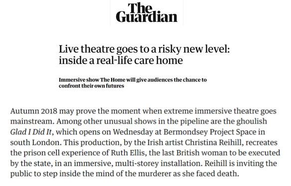 The Guardian, Vanessa Thorpe, Glad I Did