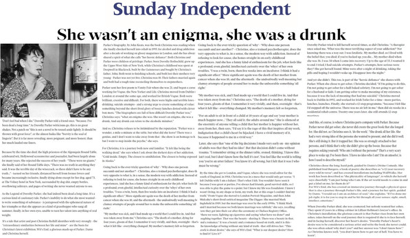 Sunday Independent, Emily Hourican, Wit'