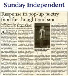 Sunday Independent, CR on SoulBurgers Po