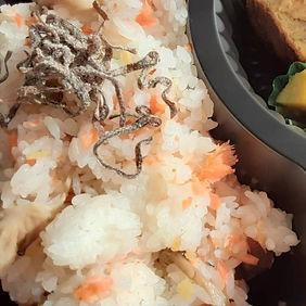 おかげさま日替り鮭の混ぜ込みご飯の日