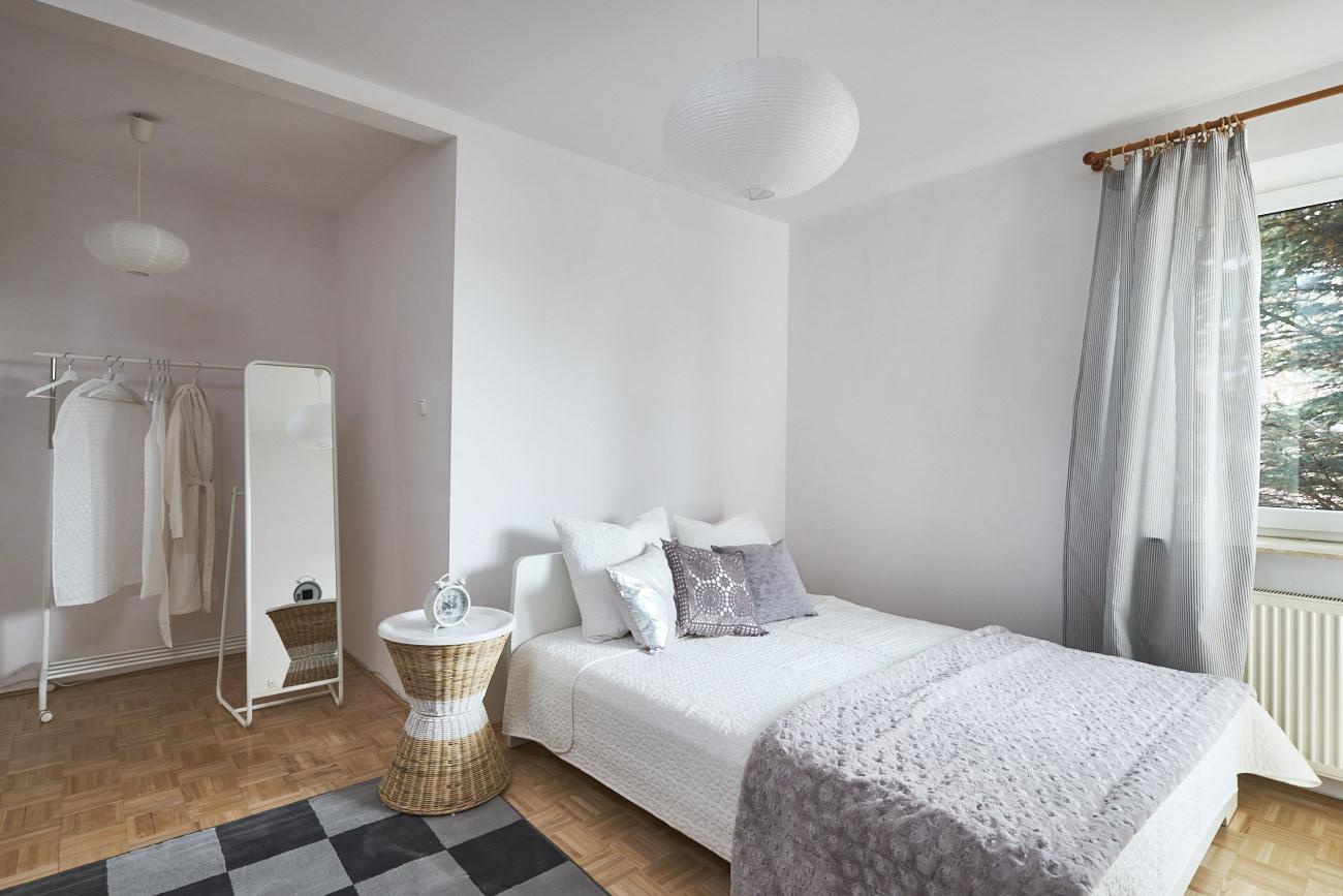 Sypialnia główna po zmianach