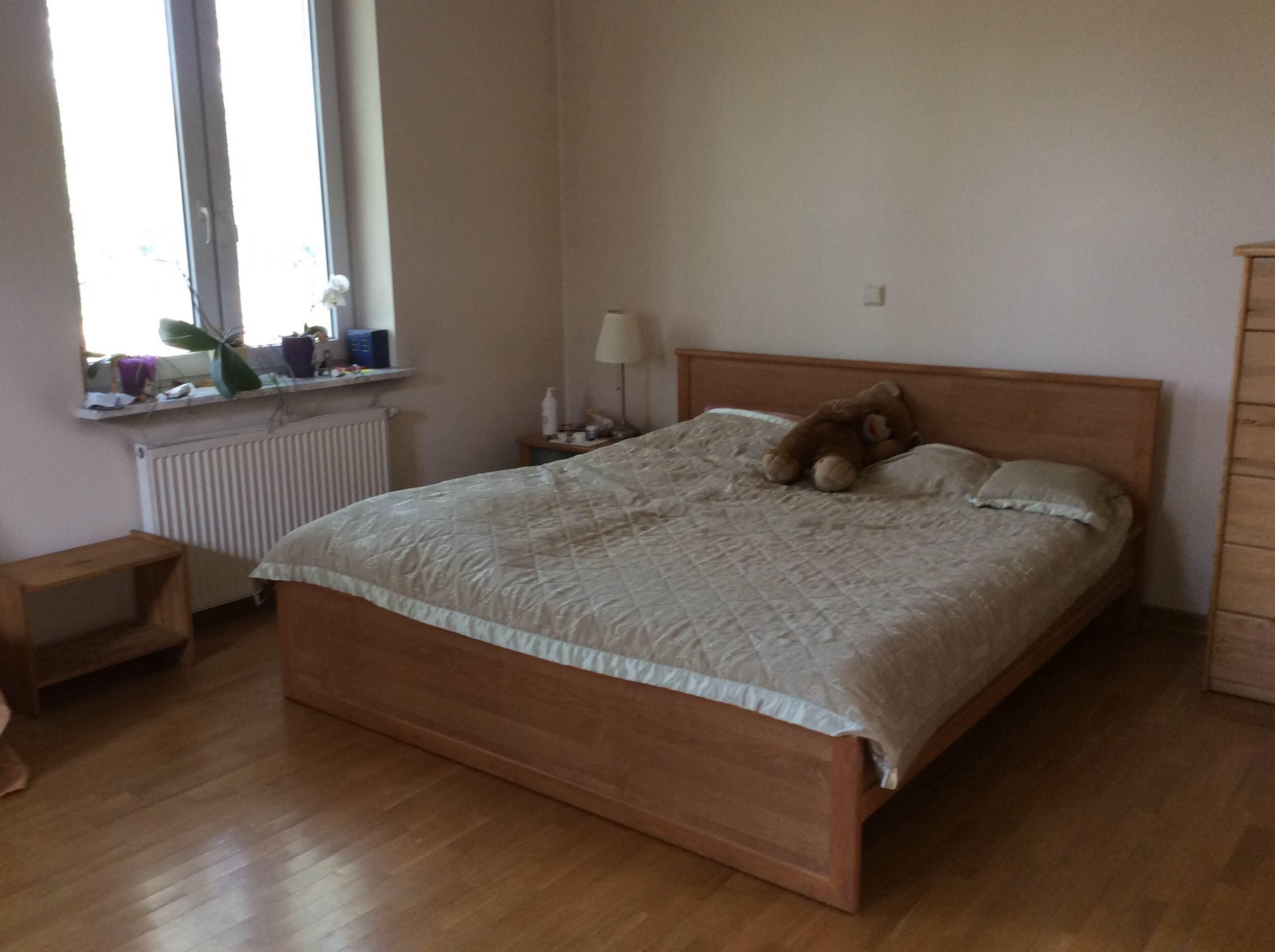 """sypialnia """"przed"""" aranżacją"""