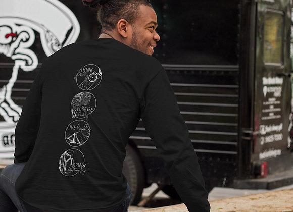 Crewneck Sweatshirt with Four Pillars