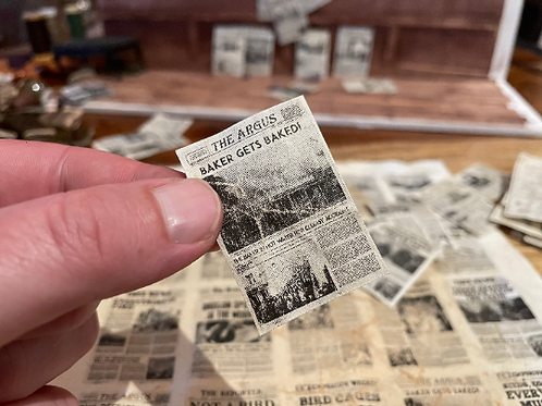 24 DIY Miniature Newspapers