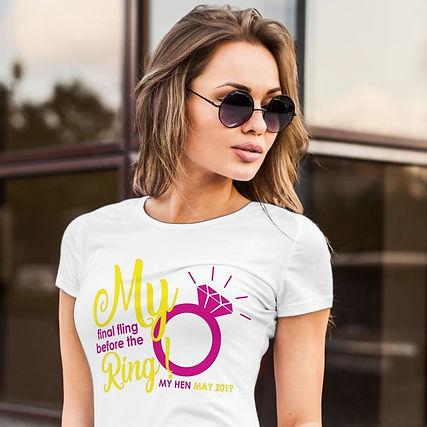 Hen Shirts Shirt Tee Shirt Stag Girl Printing Sunglasses Wedding Stationery Ring Holiday Honeymoon Gown
