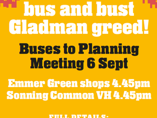 Get on the bus to bust Gladman!