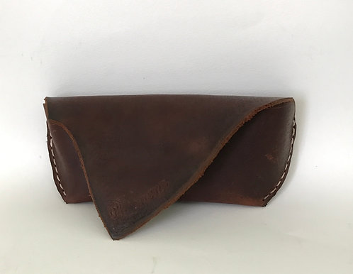 Raw Edge Leather Sunglasses Case
