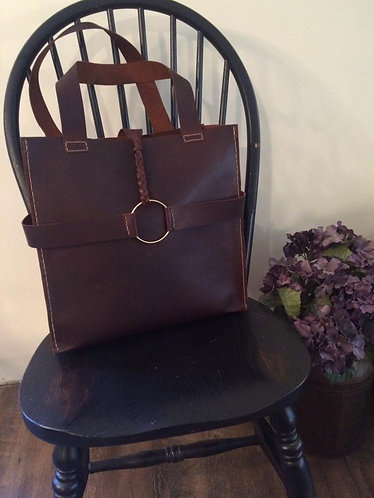 Braided O Ring Shoulder Bag