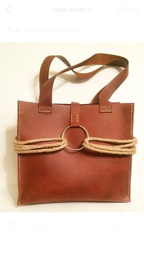 Rope Accented Shoulder Bag