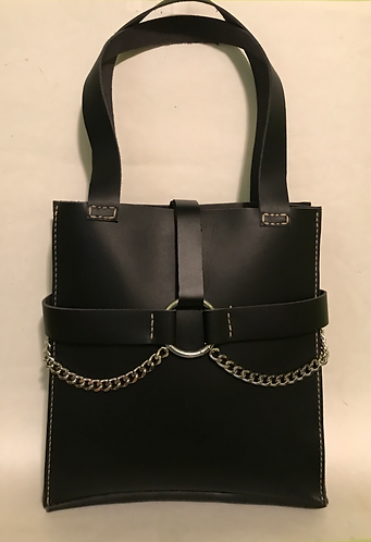 Large - Chain Accented - Shoulder Bag
