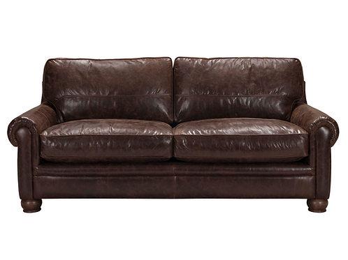 Columbus Sofa Vintage Espresso Top Grain Leather