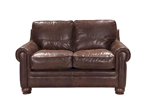 Columbus Loveseat Vintage Espresso Top Grain Leather