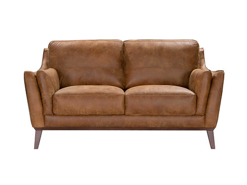 Dalby Loveseat Vintage Brown Top Grain Leather