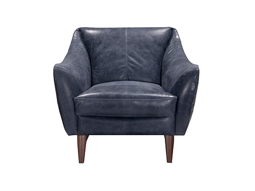 Luna II Chair Blue Top Grain Leather