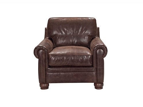 Columbus Chair Vintage Espresso Top Grain Leather